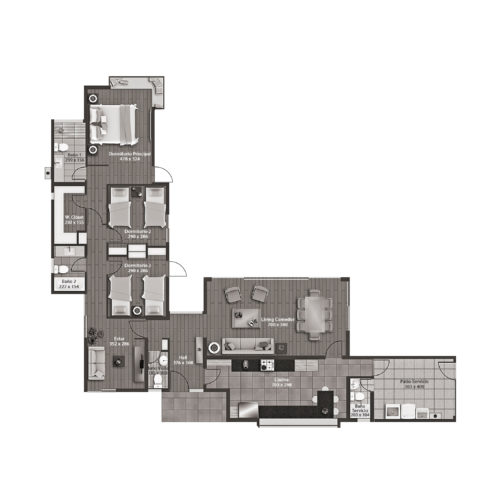 Planta Casa 140 / Casaquinta - Socovesa