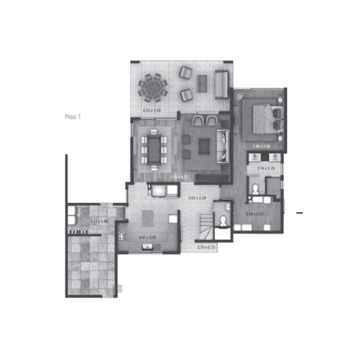 Primer piso Casa 140 / Alto Los Bravos - Socovesa