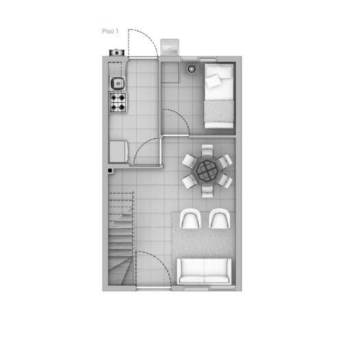 Primer piso Casa 51 / Cerro Negro - Socovesa