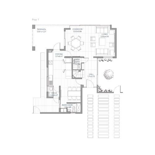 Primer piso Mediterránea 139 / Alkura - Socovesa