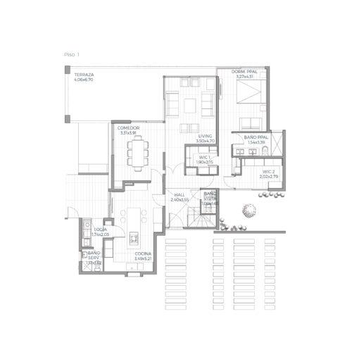 Primer piso Mediterránea 163 / Alkura - Socovesa