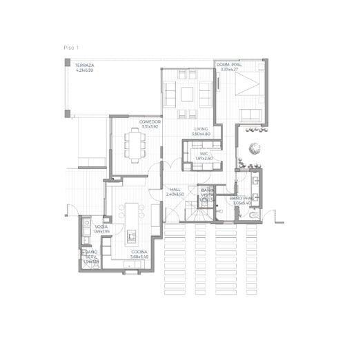 Primer piso Mediterránea 179 / Alkura - Socovesa