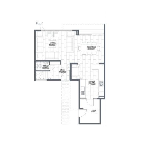 Primer piso Casa 110 / Punta Maitenes - Socovesa