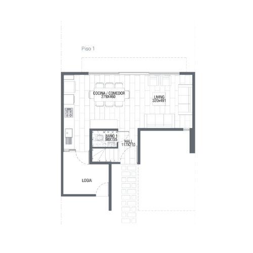 Primer piso Casa 88 / Punta Maitenes - Socovesa