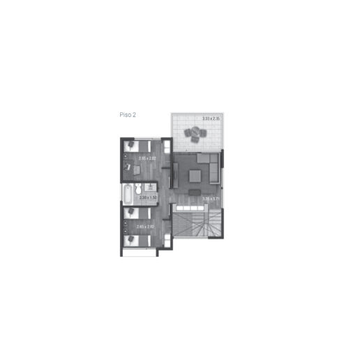 Segundo piso Casa 140 / Alto Los Bravos - Socovesa