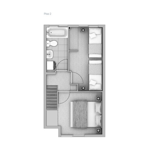 Segundo piso Casa 51 / Cerro Negro - Socovesa