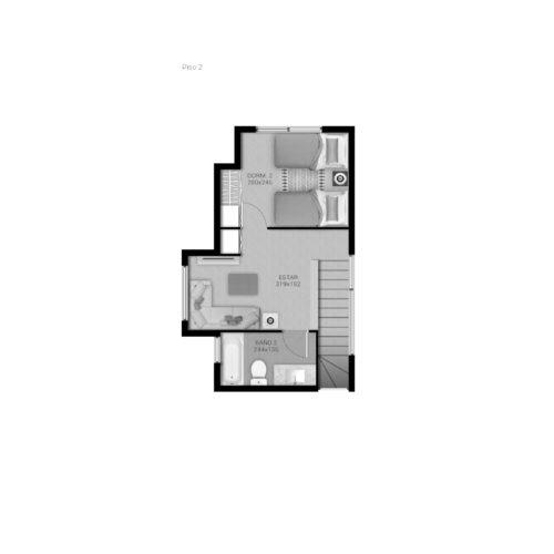 Segundo piso Casa 69 / Portal de Machalí - Socovesa