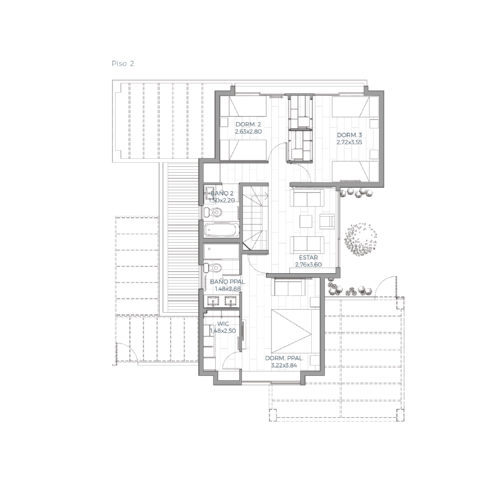 Segundo piso Mediterránea 139 / Alkura - Socovesa