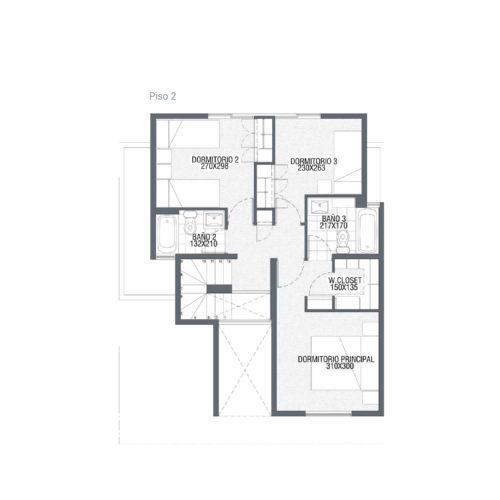 Segundo piso Casa 110 / Punta Maitenes - Socovesa