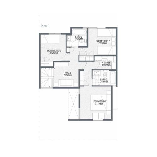 Segundo piso Casa 88 / Punta Maitenes - Socovesa