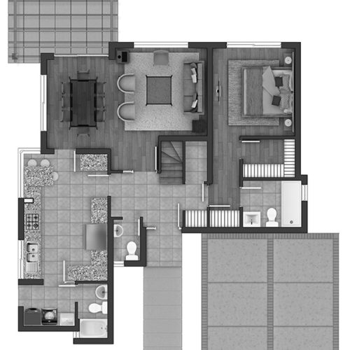 Primer piso Casa 123 / Estancia Las Rastras - Socovesa