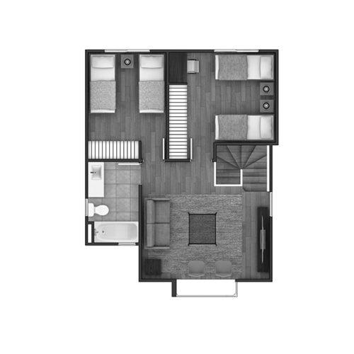 Segundo piso Casa 123 / Estancia Las Rastras - Socovesa