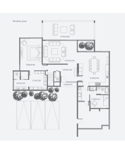 Primer piso Casa 230 / Casa Híbrida - Socovesa