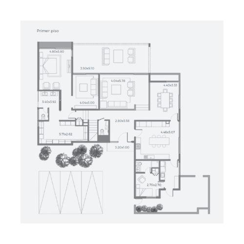 Primer piso Casa 263 / Casa Híbrida - Socovesa