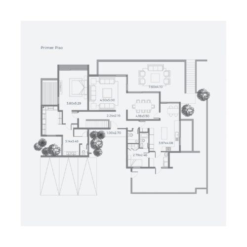 Primer piso Casa 316 / Casa Híbrida - Socovesa