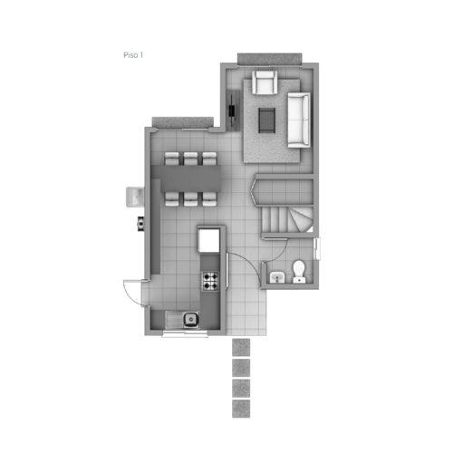 Primer piso Casa 65 / Los Coihues - Socovesa