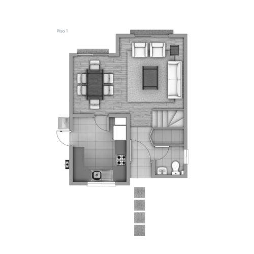 Primer piso Casa 74 / Los Coihues - Socovesa