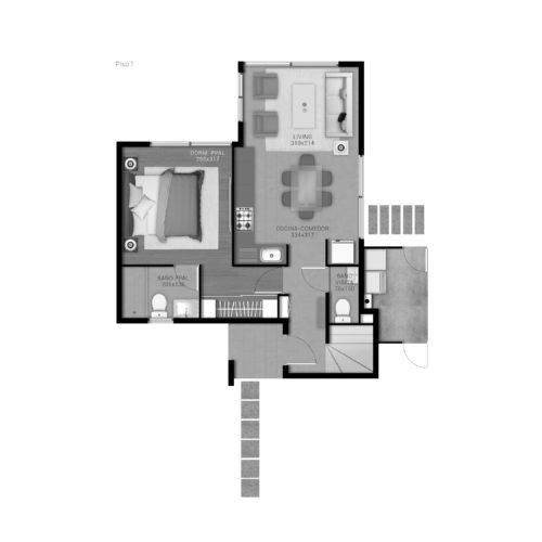 Primer piso Casa 79 / Portal de Machalí - Socovesa