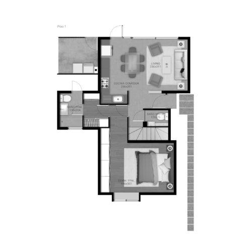 Primer piso Casa 89 / Portal de Machalí - Socovesa