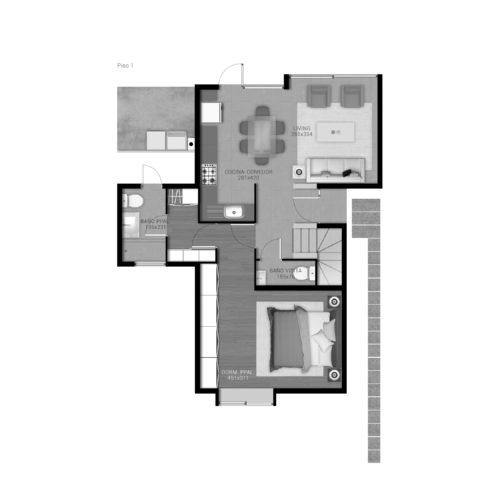 Primer piso Casa 99 / Portal de Machalí - Socovesa