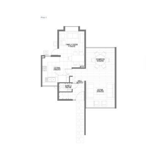 Primer piso Casa 123 / Punta Nogales - Socovesa