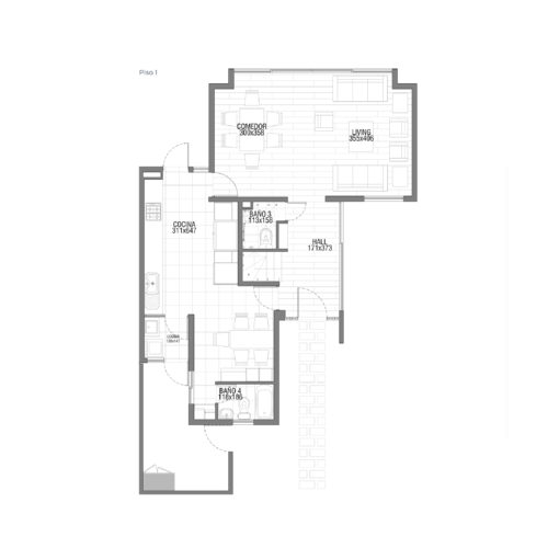 Primer piso Casa 139 / Punta Nogales - Socovesa