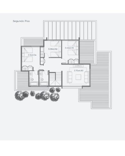 Segundo piso Casa 230 / Casa Híbrida - Socovesa