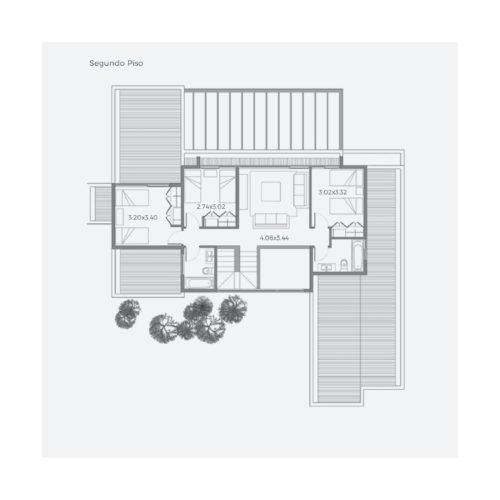 Segundo piso Casa 263 / Casa Híbrida - Socovesa