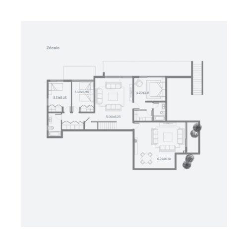 Segundo piso Casa 316 / Casa Híbrida - Socovesa