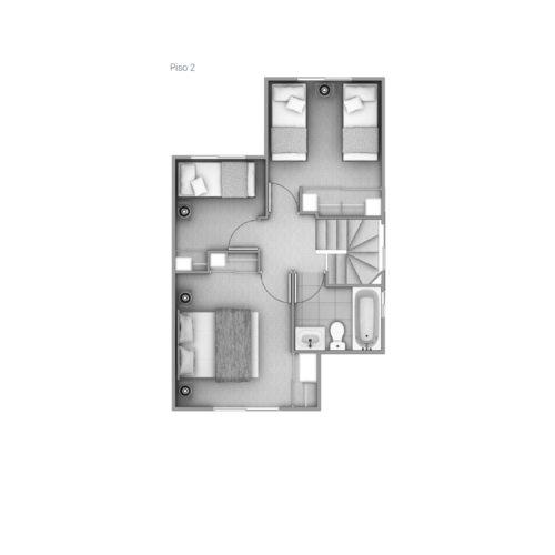 Segundo piso Casa 65 / Los Coihues - Socovesa
