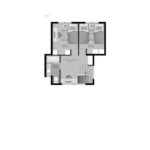 Segundo piso Casa 89 / Portal de Machalí - Socovesa