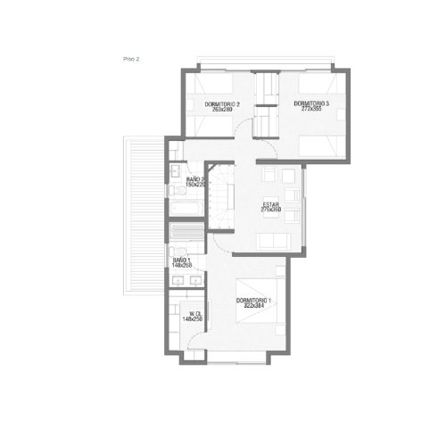 Segundo piso Casa 139 / Punta Nogales - Socovesa