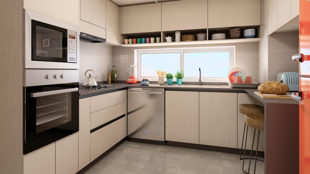 3D + 2B Cocina Tradicional / Walker La Florida - Socovesa