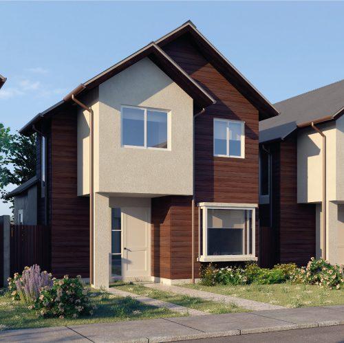 Fachada casa 68 m2 - Valle los Notros