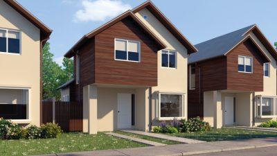 Fachada casa 80 m2 - Valle los Notros