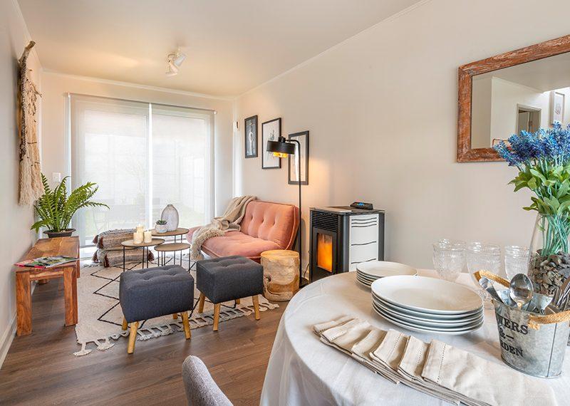 Living Comedor - Casa 68 m2 Valle los Notros