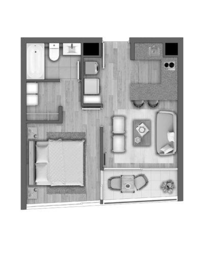 Depto E / Edificio Novo Urbano - Socovesa