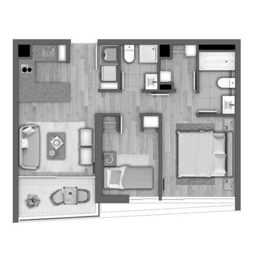 Depto D / Edificio Novo Urbano - Socovesa