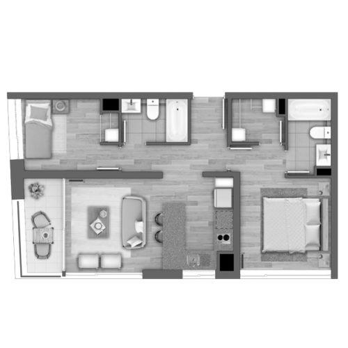 Depto A / Edificio Novo Urbano - Socovesa