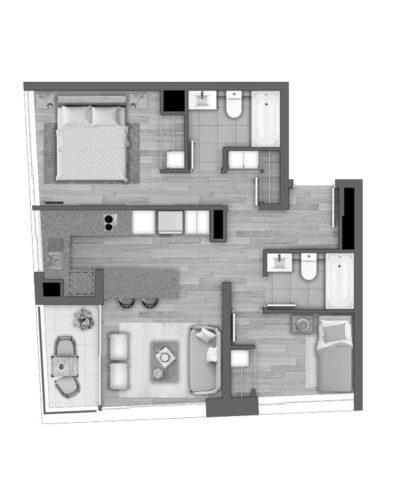 Depto B / Edificio Novo Urbano - Socovesa