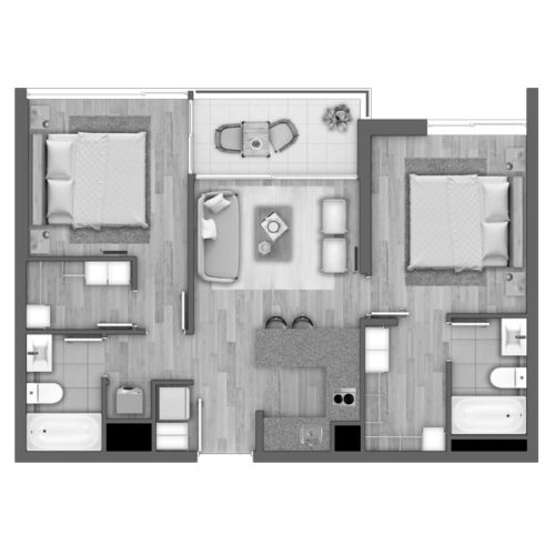 Depto C / Edificio Novo Urbano - Socovesa