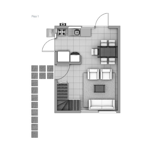 Primer piso Casa 47 / Las Pataguas - Socovesa