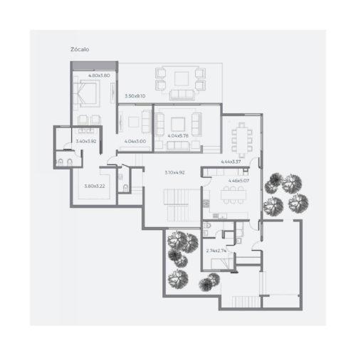 Segundo piso Casa 304 / Casa Híbrida - Socovesa
