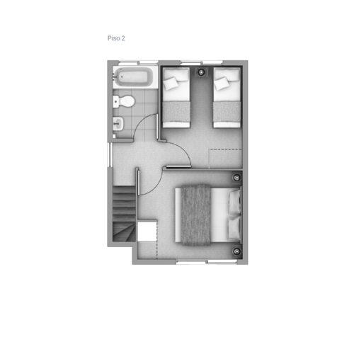 Segundo piso Casa 47 / Las Pataguas - Socovesa