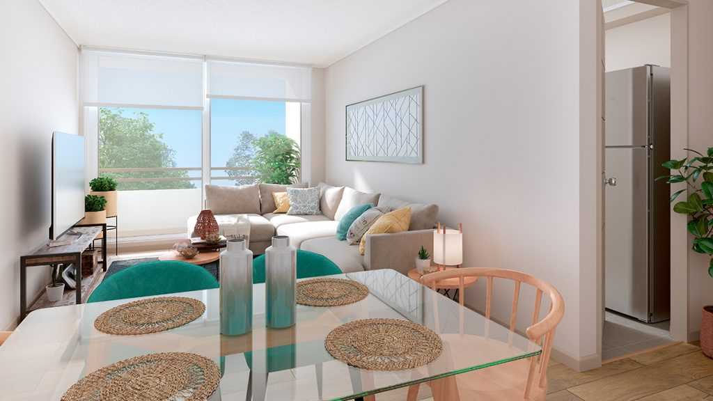Depto Sevilla norte - Living Comedor